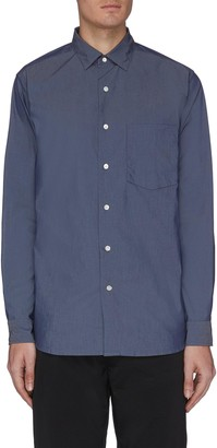 Nanamica Stripe panel button-up wind shirt
