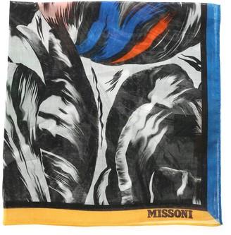 Missoni Graphic Logo Print Square Scarf