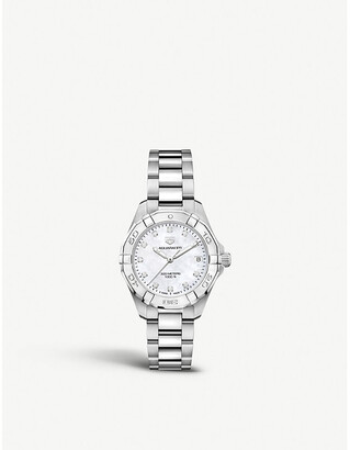 Tag Heuer WBD1314BA0740 Aquaracer stainless steel and mother-of-pearl watch