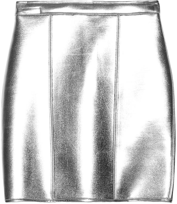 Sass & Bide The Star Turn metallic neoprene mini skirt