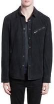 Men's John Varvatos Suede Shirt Jacket