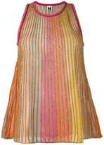 M Missoni metallic knit top