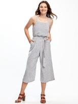 Old Navy Linen-Blend Tie-Belt Jumpsuit for Women
