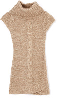 Pink Angel Brown Twist Turtleneck Dress - Girls