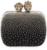 Alexander McQueen Queen & King Skull Leather Box Clutch Bag