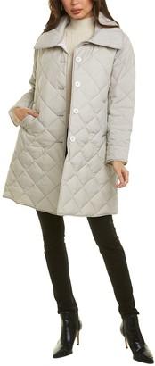 Jane Post Diamond Quilted Coat
