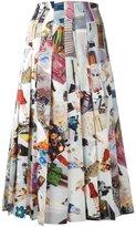 Christopher Kane pleated slit skirt - women - Silk - 38
