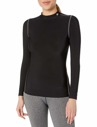 Starter Women's Long Sleeve Mock Neck Athletic Light-Compression T-Shirt Amazon Exclusive