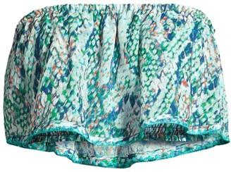 Ramy Brook Meena Printed Strapless Top