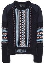 Versace Embellished Wool-blend Sweater