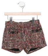 Little Marc Jacobs Girls' Tweed Mini Shorts