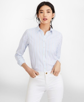Brooks Brothers Classic-Fit Striped Cotton Dobby Luxury Shirt