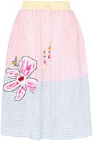 Mira Mikati gingham flower patch skirt
