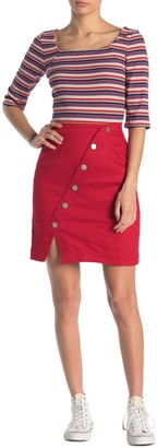 Sugar Lips Asymmetrical Front Button Skirt