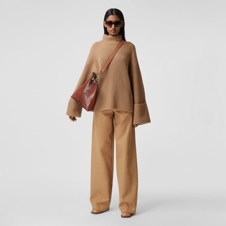Burberry Rib Knit Cotton Cashmere Oversized Sweater