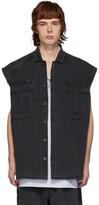 Juun.J Black Denim Sleeveless Shirt