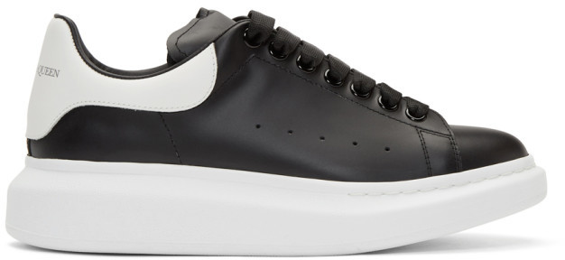 Alexander McQueen Black and White Oversized Sneakers