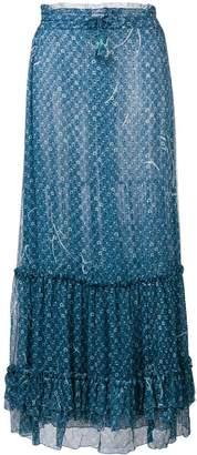 Poupette St Barth floral print maxi skirt