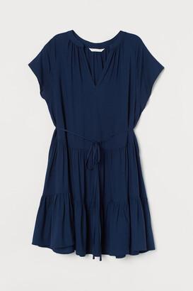 H&M MAMA V-neck Tunic - Blue