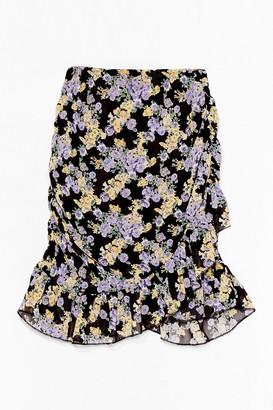 Nasty Gal Womens Look Bud On the Dancefloor Floral Mini Skirt - Black - 6