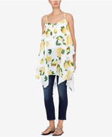 Catherine Malandrino Tiered Lemon-Print Tunic