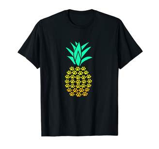 Pineapple Paw Print Heart Novelty Gift Apparel Pineapple Paw Print Dog Lover Heart T-Shirt