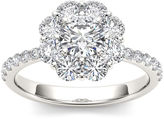 MODERN BRIDE 1 3/4 CT. T.W. Diamond 14K White Gold Engagement Ring
