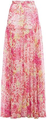 Giambattista Valli Gathered Floral-print Silk-chiffon Maxi Skirt