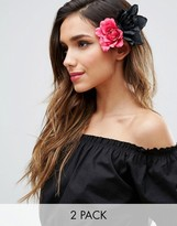 Asos Pack of 2 Rose Hair Clips