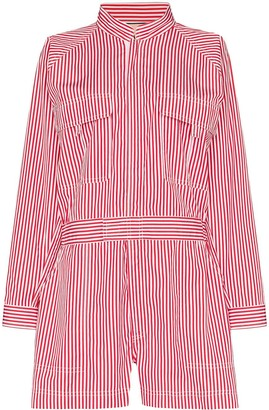 Plan C Striped Playsuit