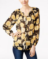 Charter Club Rose-Print Button-Front Blouse, Only at Macy's