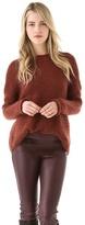 Porter grey Mohair Textured Sweater
