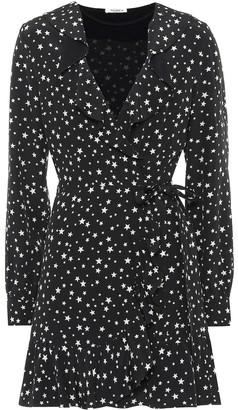 Miu Miu Star-printed silk wrap dress