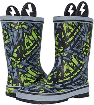 Western Chief Graphic Gamer Rain Boots (Toddler/Little Kid/Big Kid) (Gray) Boy's Shoes