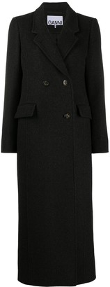 Ganni Long-Length Peacoat