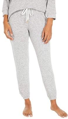 Donna Karan Brushed Sweater Sleepwear Jersey Joggers (Grey Heather) Women's Pajama
