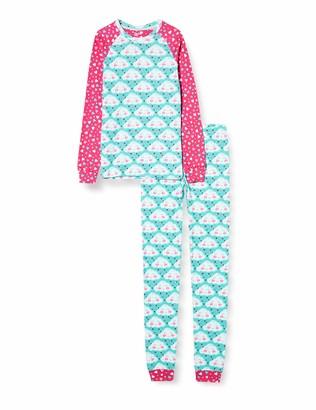 Hatley Girl's Organic Cotton Raglan Long Sleeve Printed Pyjama Set Pajama