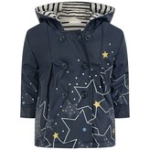 Catimini CatiminiBaby Girls Navy Star Print Raincoat