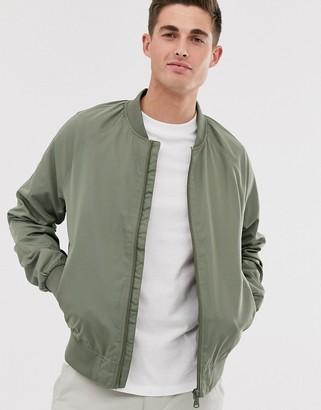 Esprit Khaki Nylon Bomber-Green