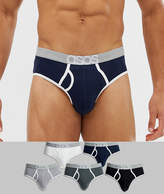 Asos Design ASOS DESIGN briefs in core colours with branded waistband 5 pack multipack saving