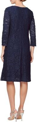 Alex Evenings Lace Mock Jacket Cocktail Dress