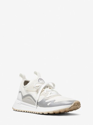 MICHAEL Michael Kors Nolan Mesh and Rubberized Leather Trainer