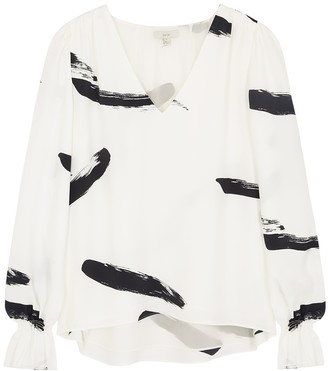 Joie Bolona Printed Crepe Blouse