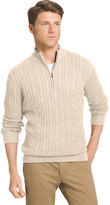 Izod Men's Classic-Fit 7GG Cable-Knit Quarter-Zip Sweater