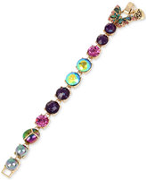 Betsey Johnson Gold-Tone Multicolor Bug and Butterfly Link Bracelet