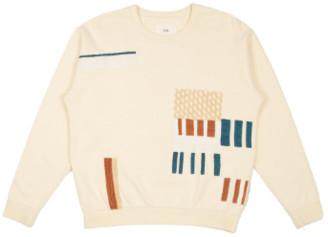Folk Ecru Loom Sweater - 1