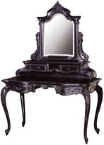Out There Interiors Dressing Table And Mirror In Black
