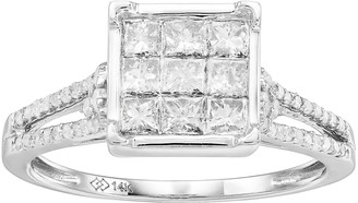 Unbranded 14k White Gold 1 Carat T.W. Diamond Split Shank Ring