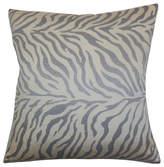 "The Pillow Collection Helaine Zebra Print Pillow Slate, 22""x22"""