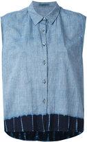 Suzusan - denim sleeveless shirt - women - Cotton - XS
